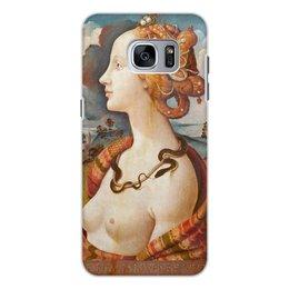 """Чехол для Samsung Galaxy S7, объёмная печать """"Портрет Симонетты Веспуччи"""" - девушки"""