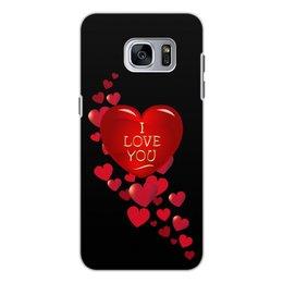 "Чехол для Samsung Galaxy S7, объёмная печать ""Без названия"" - сердце, любовь, сердечки, i love you, я люблю тебя"