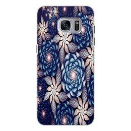 """Чехол для Samsung Galaxy S7, объёмная печать """"Без названия"""" - цветы, узор, природа, цветочки, кактусы"""