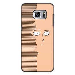 """Чехол для Samsung Galaxy S7, объёмная печать """"Сайтам"""" - аниме, saitama, сайтама, one punch man, ванпанчмен"""