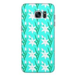 """Чехол для Samsung Galaxy S7, объёмная печать """"Лилии. Арт. графика"""" - арт, цветы, природа, лилии, арт графика"""