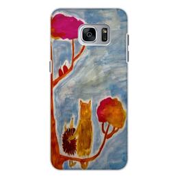 """Чехол для Samsung Galaxy S7, объёмная печать """"Счастье"""" - любовь, счастье, дружба"""