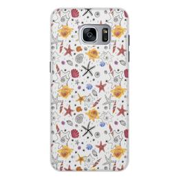 """Чехол для Samsung Galaxy S7, объёмная печать """"Shells"""" - пляж, жара, море, ракушки, лето"""