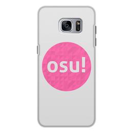 """Чехол для Samsung Galaxy S7, объёмная печать """"Osu! (Видеоигра)"""" - osu, осу, музыкальная игра"""