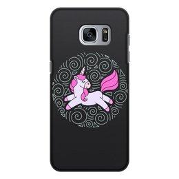 """Чехол для Samsung Galaxy S7, объёмная печать """"Unicorn"""" - единорог"""