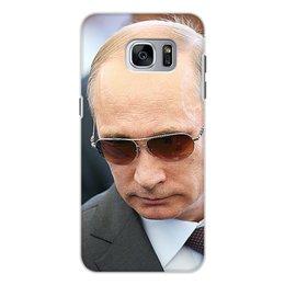 """Чехол для Samsung Galaxy S7, объёмная печать """"ПУТИН. ПОЛИТИКА"""" - арт, стиль, очки, россия, президент"""
