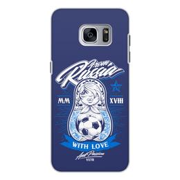 "Чехол для Samsung Galaxy S7, объёмная печать ""Футбол"" - футбол, спорт, матрёшка"