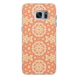 """Чехол для Samsung Galaxy S7, объёмная печать """"Нежный."""" - арт, узор, абстракция, фигуры, текстура"""