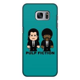 """Чехол для Samsung Galaxy S7, объёмная печать """"Pulp Fiction"""" - тарантино, криминальное чтиво, джон траволта, сэмюэл лерой джексон, культовое кино"""