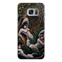 """Чехол для Samsung Galaxy S7, объёмная печать """"Лето (картина Макса Вебера)"""" - картина, живопись, кубизм, модерн, вебер"""