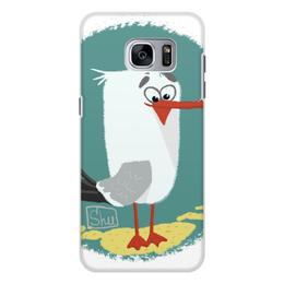 "Чехол для Samsung Galaxy S7, объёмная печать ""Чайка"" - птица, птичка, чайка, баклан"