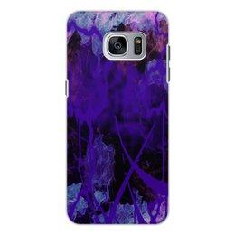 """Чехол для Samsung Galaxy S7, объёмная печать """"граффити"""" - узор, граффити, пятна, краски, дым"""