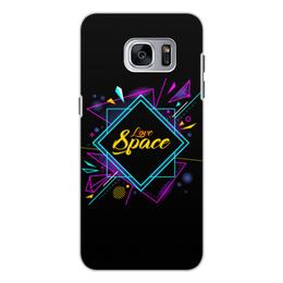 """Чехол для Samsung Galaxy S7, объёмная печать """"Love Space"""" - звезды, космос, вселенная"""