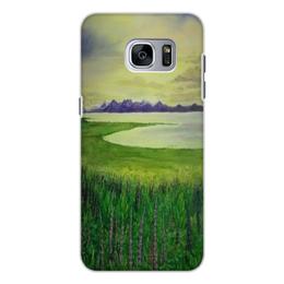 """Чехол для Samsung Galaxy S7, объёмная печать """"Прованс"""" - цветы, франция, луга, прованс"""