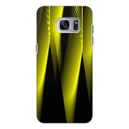 """Чехол для Samsung Galaxy S7, объёмная печать """"Абстракция"""" - узор, графика, абстракция, геометрия, линии"""