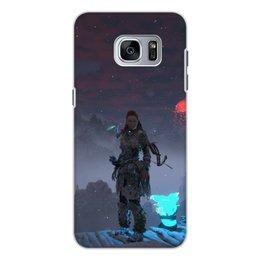 """Чехол для Samsung Galaxy S7, объёмная печать """"Horizon Zero Dawn"""" - истребитель, sobeck, буревестник, камнегрыз, frozen wilds"""