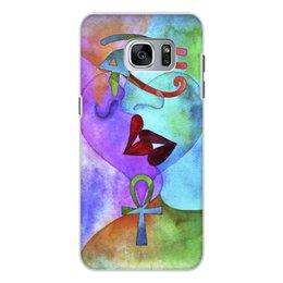 """Чехол для Samsung Galaxy S7, объёмная печать """"Бесконечная любовь"""" - сердце, любовь, губы, абстракция, поцелуй"""