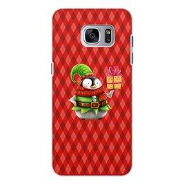 """Чехол для Samsung Galaxy S7, объёмная печать """"пингвин"""" - новый год, зима, птицы, подарки, пингвин"""