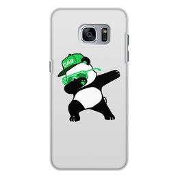 """Чехол для Samsung Galaxy S7, объёмная печать """"Dab Panda """" - животные, панда, panda, дэб, dab"""