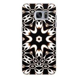 """Чехол для Samsung Galaxy S7, объёмная печать """"Кофейный"""" - подарок, абстракция, фрактал, digital art, спектр"""