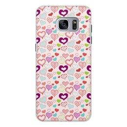 """Чехол для Samsung Galaxy S7, объёмная печать """"Сердечки"""" - сердце, любовь, день святого валентина"""