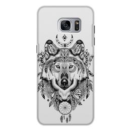 """Чехол для Samsung Galaxy S7, объёмная печать """"Тотем. Волк"""" - графика, волк, тотем"""