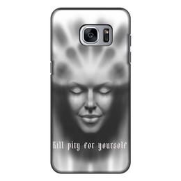 """Чехол для Samsung Galaxy S7, объёмная печать """"Богиня Света и Благополучия"""" - лицо, свет, дух, богиня, жалость"""