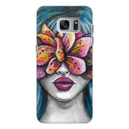 """Чехол для Samsung Galaxy S7, объёмная печать """"Весна"""" - праздник, любовь, девушка, цветы, весна"""
