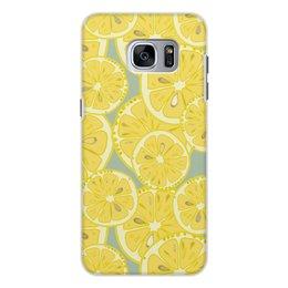 """Чехол для Samsung Galaxy S7, объёмная печать """"лимоны"""" - лето, фрукты, лимон, лимоны, цитрусовые"""