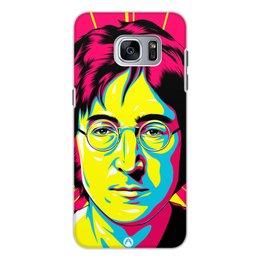 "Чехол для Samsung Galaxy S7, объёмная печать ""Джон Леннон"" - битлз, леннон"