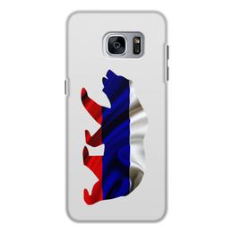 """Чехол для Samsung Galaxy S7, объёмная печать """"Русский Медведь"""" - bear, медведь, русский, флаг, russian"""