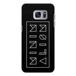 """Чехол для Samsung Galaxy S7, объёмная печать """"Минимализм"""" - надпись, текст, геометрия, буквы, минимализм"""