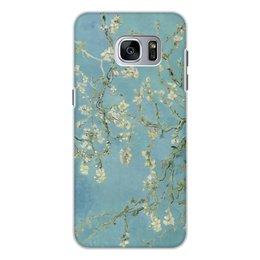"Чехол для Samsung Galaxy S7, объёмная печать ""Цветы миндаля (Ван Гог)"" - картина, ван гог"