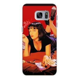 """Чехол для Samsung Galaxy S7, объёмная печать """"Криминальное чтиво"""" - девушки"""