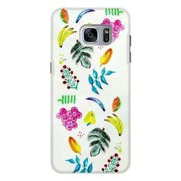 """Чехол для Samsung Galaxy S7, объёмная печать """"Фрукты"""" - лето, цветы, фрукты, листья, ягоды"""