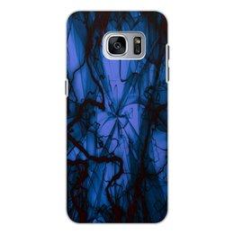 """Чехол для Samsung Galaxy S7, объёмная печать """"Краски"""" - узор, космос, краски, абстракция, молния"""