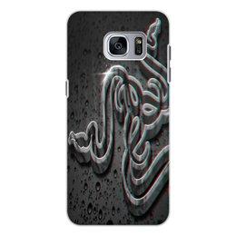 """Чехол для Samsung Galaxy S7, объёмная печать """"Рейзер"""" - фирма, компьютеры, технологии, razer, рейзер"""