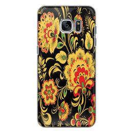 "Чехол для Samsung Galaxy S7, объёмная печать ""Хохлома"" - цветы, iphone, хохлома"