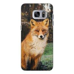 """Чехол для Samsung Galaxy S7, объёмная печать """"Лиса """" - животные, природа, лиса, животное, лисичка"""