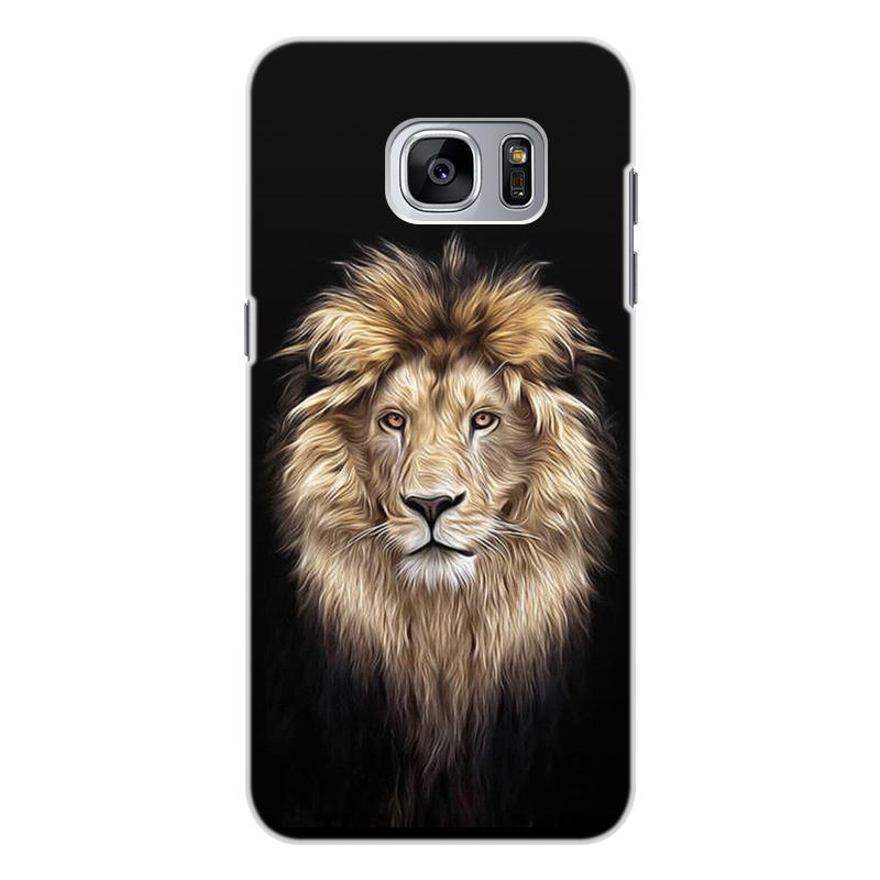 Чехол для Samsung Galaxy S7 Edge, объёмная печать Printio Лев. живая природа