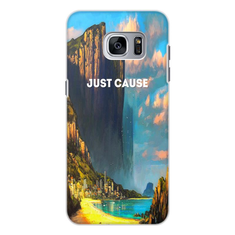 Чехол для Samsung Galaxy S7 Edge, объёмная печать Printio Just cause игровой контроллер gamevice gv167 для samsung s7 s7