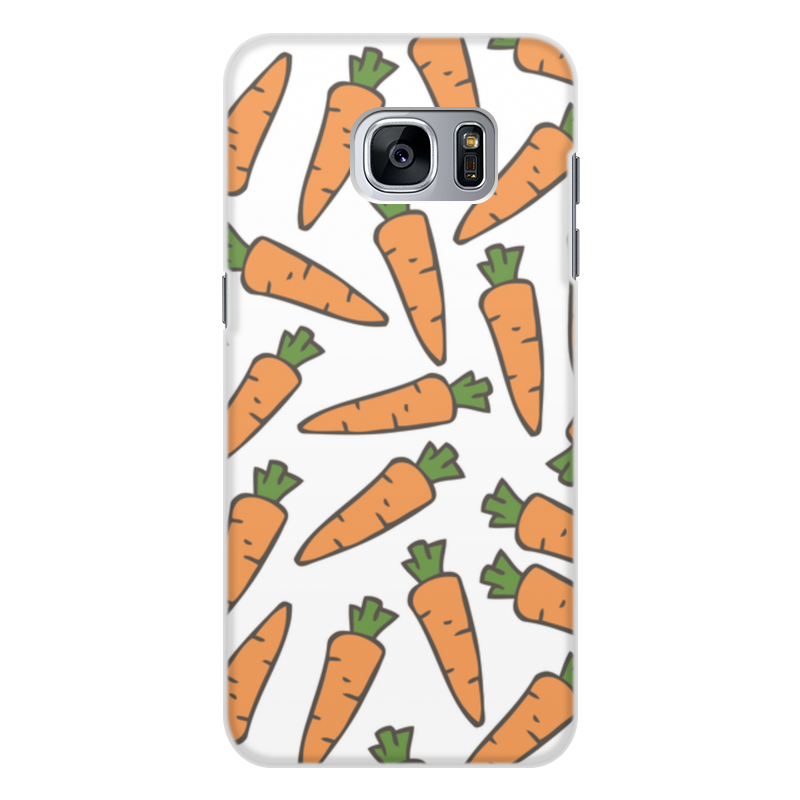 Чехол для Samsung Galaxy S7 Edge, объёмная печать Printio Морковки