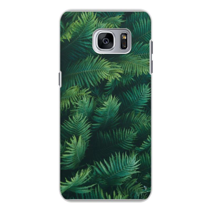 Чехол для Samsung Galaxy S7 Edge, объёмная печать Printio Листья папоротника