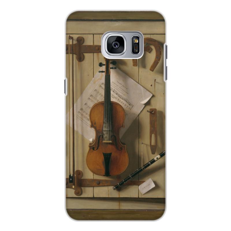 Чехол для Samsung Galaxy S7 Edge, объёмная печать Printio Натюрморт со скрипкой (уильям харнетт) чехол для samsung galaxy s5 printio натюрморт со скрипкой уильям харнетт