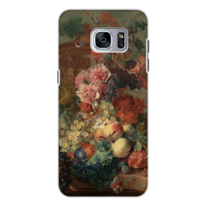 Чехол для Samsung Galaxy S7 Edge, объёмная печать Printio Цветы (ян ван хёйсум) фартук с полной запечаткой printio цветы ян ван хёйсум