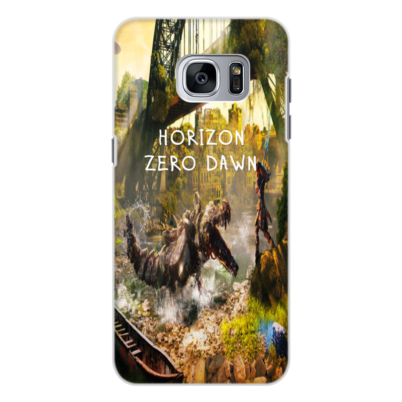 купить Чехол для Samsung Galaxy S7 Edge, объёмная печать Printio Horizon zero dawn онлайн