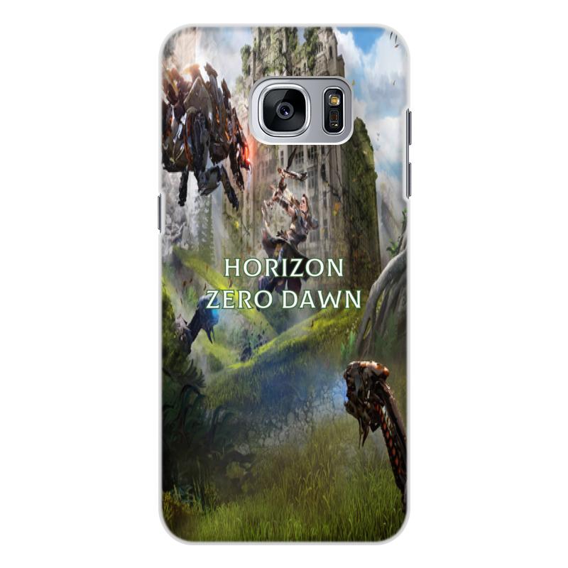Чехол для Samsung Galaxy S7 Edge, объёмная печать Printio Horizon zero dawn игровой контроллер gamevice gv167 для samsung s7 s7