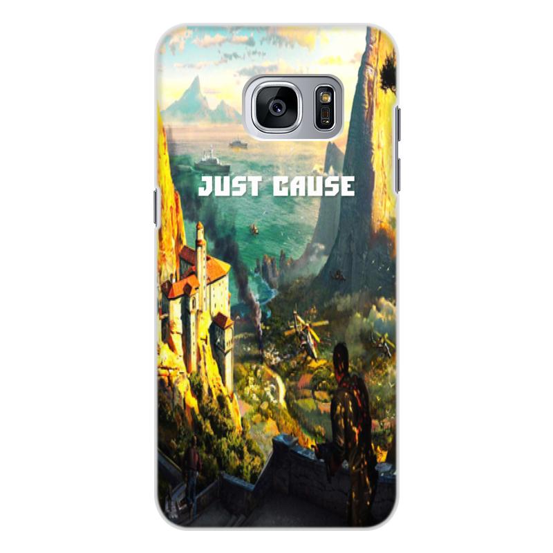 Чехол для Samsung Galaxy S7 Edge, объёмная печать Printio Just cause кейс для назначение ssamsung galaxy s7 edge s7 кошелек бумажник для карт со стендом чехол цветы твердый тпу для s7 edge s7 s6 edge