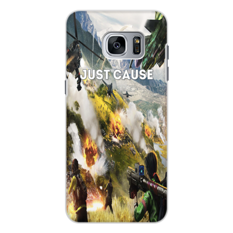 Чехол для Samsung Galaxy S7 Edge, объёмная печать Printio Just cause цена