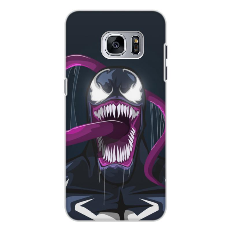 Чехол для Samsung Galaxy S7 Edge, объёмная печать Printio Веном (venom)